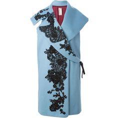 sleeveless coat with lace design Office Dresses For Women, Sleeveless Coat, Antonio Marras, Fashion Details, Fashion Design, Knitted Coat, Embroidery Fashion, Coats For Women, Dress To Impress