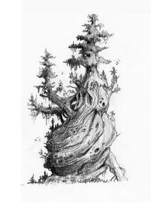 Art Sketches, Art Drawings, Art Environnemental, Concept Art Tutorial, Landscape Concept, Art Et Illustration, Landscape Drawings, Black And White Drawing, Sketchbook Inspiration