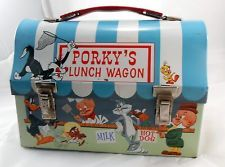 VINTAGE 1959 PORKY'S LUNCH WAGON METAL DOME LUNCHBOX