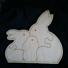 Maple wood Bunny puzzle