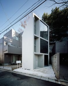 Ultra narrow house by Japanese architecture studio Jo Nagasaka and Schemata Architecture Office. Architecture Du Japon, Architecture Office, Residential Architecture, Amazing Architecture, Contemporary Architecture, Architecture Design, Installation Architecture, Minimal Architecture, Architecture Diagrams