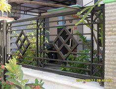 Best old door headboard laundry rooms Ideas Fence Gate Design, Modern Fence Design, Balcony Railing Design, Window Grill Design, House Gate Design, Door Design, Industrial Ceiling Lights, Industrial House, Industrial Windows