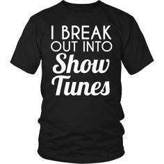 Theater - Show Tunes - District Unisex Shirt / Black / S - 5