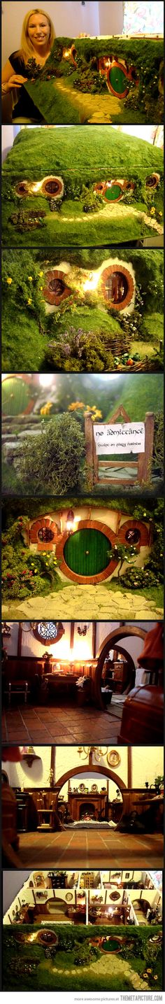 Amazing Hobbit Dollhouse…I'd love to make this for Jackzilla (now where did I put ma skillz?)