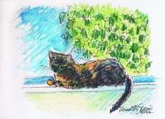 Daily Sketch Reprise: Kelly on the Windowsill, 2012