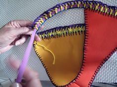 Tutorial paso a paso bikini de neopreno y crochet de las famosas | Manualidades Love Crochet, Diy Crochet, Crochet Bikini, Crochet Top, Embroidery On Clothes, Crochet Fashion, Knitting, Diy Crafts How To Make, Crochet Dresses