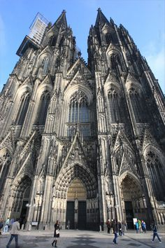 The impposing Cologne Cathedral in Cologne, Germany.