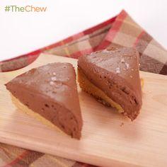 Chocolate Peanut Pie by Michael Symon. #TheChew #Dessert