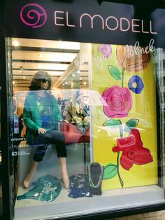 Shop window of women fashion store
