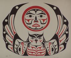Northwest Coast Native American Art moon | Protagonists Owl and Moon Postedon Wednesday, June 6th, 2012 in Images