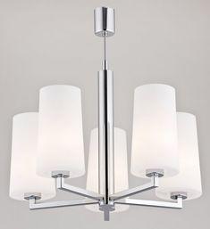 Lampa wisząca żyrandol Argon Camelot 5x60W E27 chrom/biały 2053 - wysyłka w 24h hurtelektryczny.pl