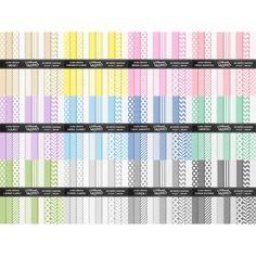 Colection Basic Papers I – 12 Basic Papers Kits – Nilmara Quintela Paper Designer