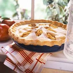 Old-fashioned apple pie generously filled with cinnamon-flavored apple slices. Delectable!