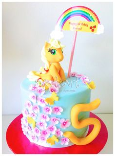 Sweet Art Cakes by Milbreé Moments: Keren's My Little Pony (Applejack) 5th Birthday Cake