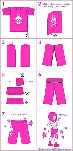 This diagram is crazy simple & absolutely all you need to make yoga pants from a t-shirt. Might add some elastic if need be.