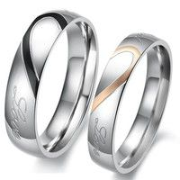 I think you'll like Heart Shape Matching Titanium Promise Ring for Couple 316L Stainless Steel Wedding Bands Rings #sclm-ltd. Add it to your wishlist!  http://www.wish.com/c/536c4b358ec49d4cd715ba58