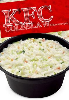 Looking for the perfect side for your Father's Day Cookout? Look no further than this secret KFC Cole Slaw copycat recipe. You'll be making this all summer long! Chick-fil-A Cole Slaw Rose Razzino roserazzino Weight watchers recipes Looking for the Copykat Recipes, Slaw Recipes, Healthy Recipes, Gourmet Recipes, Dinner Recipes, Cooking Recipes, Cabbage Recipes, Taco Bell Recipes, Chicken Recipes