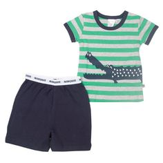 Marquise summer boys pyjamas with crocodile  a30f44be8