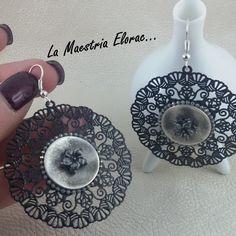 Boucles d'oreilles boutons - Boucles d'oreilles artisanales - Boucles d'oreilles pendantes - Boucles d'oreilles bohème