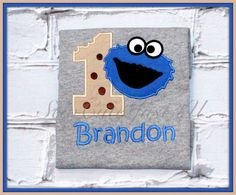 Cookie+Monster+Personalized+Birthday+Number+Shirt+by+SewCuteJust4U,+$18.50
