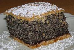 Ahogy a neve is elárulja, ez a mákos süti tényleg egy csoda! Hungarian Desserts, Hungarian Cake, Hungarian Recipes, Czech Recipes, Croatian Recipes, Sweet And Salty, Creative Food, Coffee Cake, Amazing Cakes