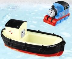 What the heck is a train doing floating in your bathtub? Take Bulstrode and Thomas the Tank Engine out for a little bathtime adventure. You can even squeeze Thomas and water shoots out of his smokestack. This is a cute bathtub toy for a young girl or boy.