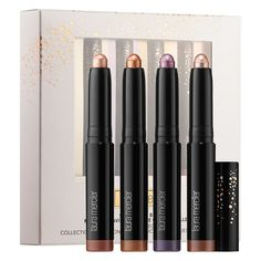 Shop Laura Mercier's Shadows & Brights Metallic Caviar Stick Eye Colour Collection at Sephora. This eyeshadow set lines, highlights, and creates smoky looks. Eye Makeup Cut Crease, Eye Makeup Brushes, Makeup Brush Set, Eyeshadow Set, Bright Eyeshadow, Creamy Eyeshadow, Beauty Makeup Tips, Makeup Blog, Beauty Tricks