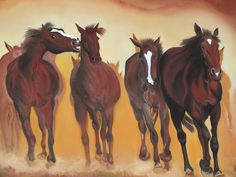 """oil painting """"horses"""""""