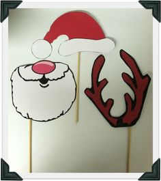Christmas photo props printable  (goes with our 'Home For The Holidays' theme