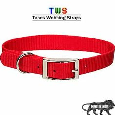 #MakeinINDIA #GoradiaIndustries #Tapeswebbingstraps Red dog collar in different sizes are now available at us. For more details click on the below link or call us on +9833884973/9323558399 http://tapeswebbingstraps.in/product-category/dog-collars/