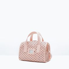 Image 2 of PERFORATED BOWLING BAG from Zara