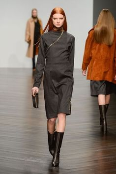 Straight and sleek at DAKS London Fashion Week Autumn Winter 2013 - 2014