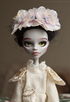 Angie (Monster High Ghoulia Yelps repaint) by theugliestwife.deviantart.com on @deviantART