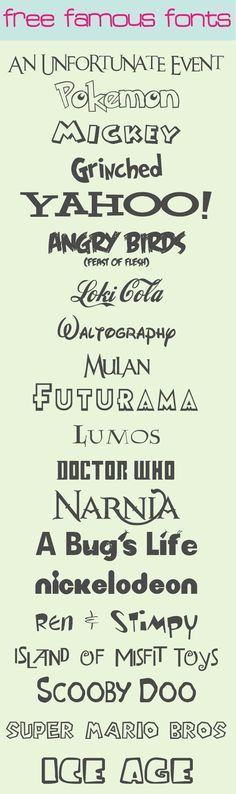 My Favorite {Free} Famous Fonts - Love and Laundry
