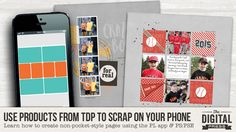 Tutorial Tuesday | PART 3: Use Products from TDP to Scrap on Your Phone | The Digital Press