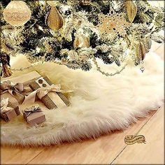 faux fur tree skirt - Google Search