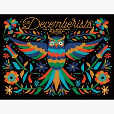 The Decemberists at The Greek Theatre in Los Angeles 2015 Poster - x Type Posters, Rock Posters, Band Posters, Music Posters, Concert Flyer, Concert Posters, Gig Poster, The Decemberists, Hollywood Poster