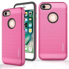 Apple iPhone 7 Case, INNOVAA Luminous Hybrid Armor Case W/ Free Touch Screen Stylus Pen - Hot Pink. New high quality TPU and Polycarbonate. Tough Polycarbonate disburses the damage throughout the case, while the soft shock-resistant TPU absorbs all left over shocks. Precision Cut-Outs allow you to enjoy every feature and ports your phone has to offer. Front guard lip protection allows you to put your phone face down without scratching your screen and will protect your phone from damage…