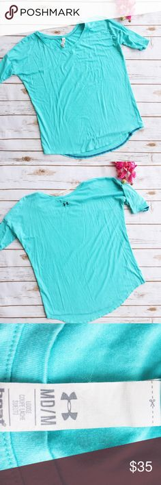 UA Studio Yoga Tee ★ EUC ★ Literally my fave shirt in the world!! ★ Measurements available upon request ★ Reasonable Offers Accepted ★ No Trades Under Armour Tops Tees - Short Sleeve