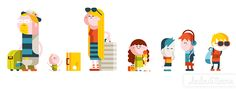 illustrations for WestJet's in-flight magazine Up!   Loulou & Tummie