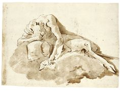 Recto reclining satyr verso allegory of prudence sotheby s