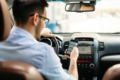 Buy man using phone while driving the car by on PhotoDune. transportation concept – man using phone while driving the car Texting While Driving, Distracted Driving, Cool Pictures, Cool Photos, Assurance Auto, Bad Drivers, Channel, Car Insurance Rates, Lock Up