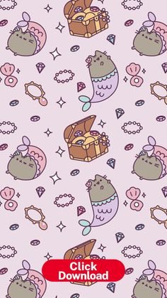 Pin by Nohe Revelo on Fondos de pantalla | Cat phone wallpaper ... Cat Phone Wallpaper, Kawaii Wallpaper, Pastel Wallpaper, Mermaid Wallpaper Iphone, Pusheen Love, Pusheen Cat, Dog Background, Background Pictures, Mermaid Wallpapers