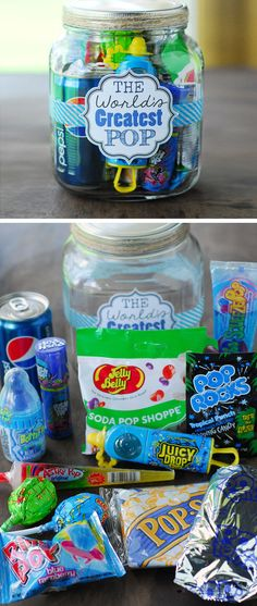 World's Greatest Pop Gift In A Jar | 18 DIY Fathers Day Crafts for Kids to Make | Easy to Make Birthday Gifts for Dad from Kids