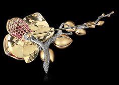Брошь Orchid - купить в Mousson Atelier
