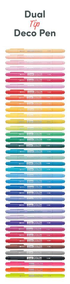The Dual Tip Deco Pen is what every pen lover needs: 39 colors, 2 tips (medium and fine), 1 happy pen enthusiast!