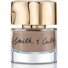 Smith & Cult Doe My Dear ($18) ❤ liked on Polyvore featuring beauty products, nail care, nail polish, nails, taupe nail polish, grey nail polish and gray nail polish