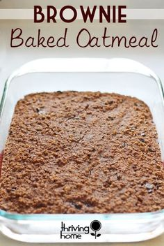 brownie baked oatmea