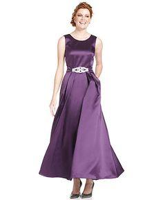 fits dress code!  Alex Evenings Dress, Sleeveless Pleated Evening Gown - Womens Dresses - Macy's