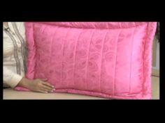 Como hacer un edredón con almohadón en tela acolchada. 5/5 - YouTube